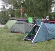 Aber wir schliefen wie gewöhnlich in unseren Zelten gleich daneben