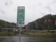 Ein Beispiel der prima Beschilderung der Radroute entlang der Maas