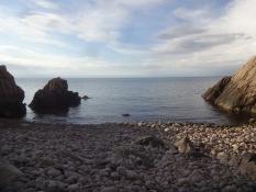 Ich badete in der Bucht von Josefinelust auf der Halbinsel Kullen