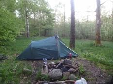 Den offiziellen Zeltplatz gab es nicht mehr, aber ich verbrachte trotzdem eine Nacht dort