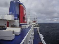 Ich kreuzte den Kattegatt von Halmstad nach Grenaa auf der Fähre Stena Nautica