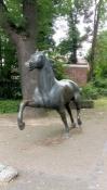 Drensteinfurt, Pferdestatue in der Mühlenstraße