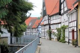 Soest, Fachwerkzeile am Loerbach