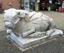 Skulptur in der Coesfelder Fußgängerzone