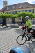 Die ersten Meter der Tour in Ansbach