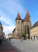 Ansbach, Martin-Luther-Platz mit St. Johannis