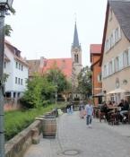 Schwabach, Spitalkirche im Hintergrund