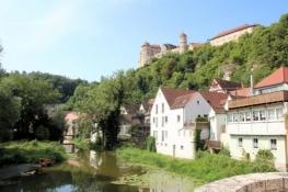 Harburg mit Burg von der Wörnitzbrücke