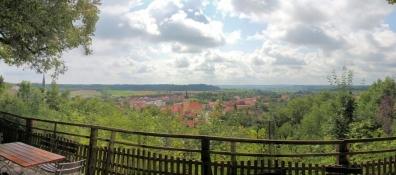 Blick vom Schlossberg auf Schillingsfürst