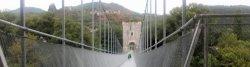 Radwegbrücke bei Rochemaure