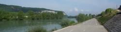 Rhone-Radweg bei Sault-Brénaz