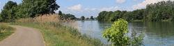 Radweg am Rhône-Rhein-Kanal