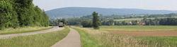 Radweg im Tal der Sauer