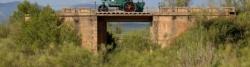 Reste der Bahntrasse bei Bonache - leieder keine Via Verde