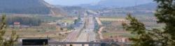 A-35 und Servicestraßen an der Grenze Castilla-La Mancha / Valencia