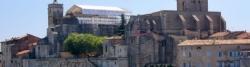 Bick von der Rhonebrücke in Pont-Saint-Esprit