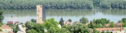 Aljmaš nahe der Drau-Mündung in die Donau