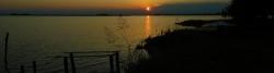 Sonnenuntergang Insel Volpera bei Grado