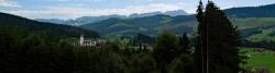 Haslen bei Appenzell mit Säntis