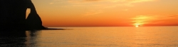 Sonnenuntergang in Étretat