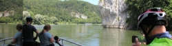 By ship on the Danube through the Weltenburg Narrows